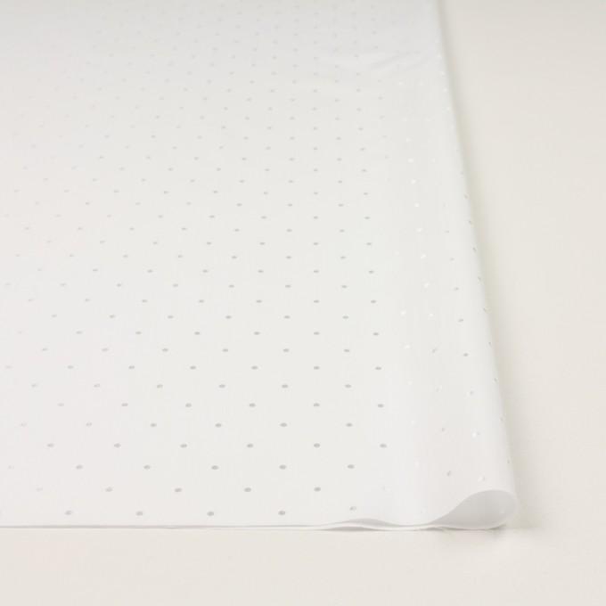 コットン&リヨセル×ドット(ホワイト)×ローンジャガード イメージ3