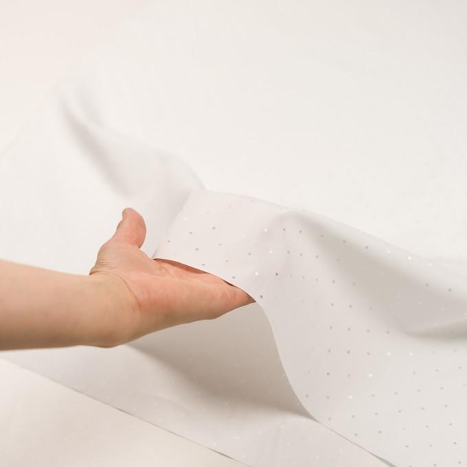 コットン&リヨセル×ドット(ホワイト)×ローンジャガード イメージ5