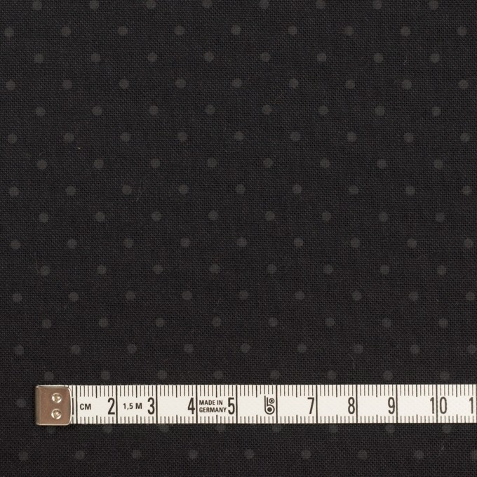 コットン×ドット(チャコールブラック)×オックスフォード イメージ4