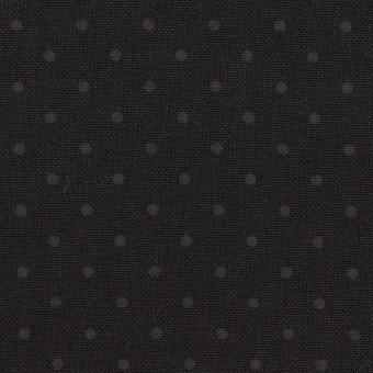 コットン×ドット(チャコールブラック)×オックスフォード