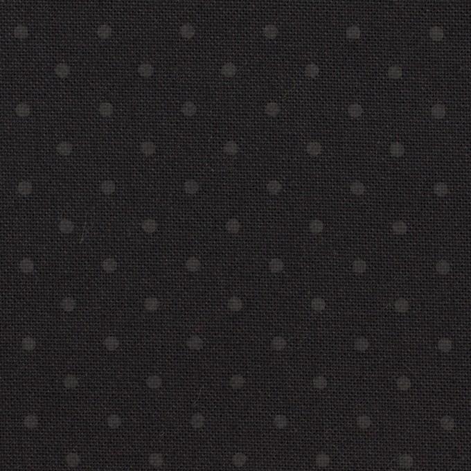 コットン×ドット(チャコールブラック)×オックスフォード イメージ1