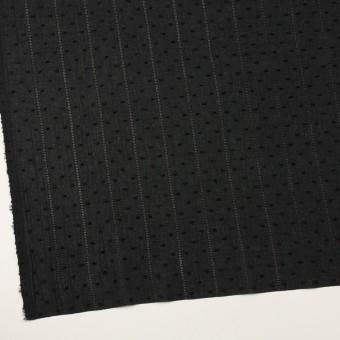 コットン×ストライプ&ドット(ブラック)×ボイルカット・ジャガード サムネイル2