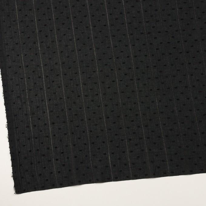 コットン×ストライプ&ドット(ブラック)×ボイルカット・ジャガード イメージ2
