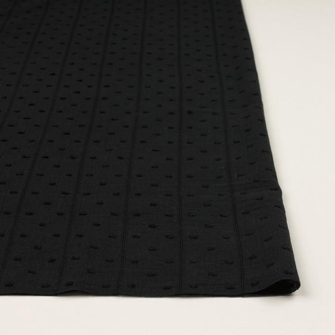 コットン×ストライプ&ドット(ブラック)×ボイルカット・ジャガード イメージ3