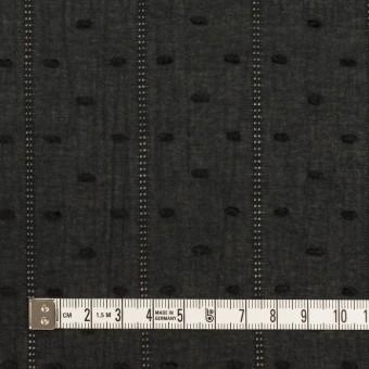 コットン×ストライプ&ドット(ブラック)×ボイルカット・ジャガード サムネイル4