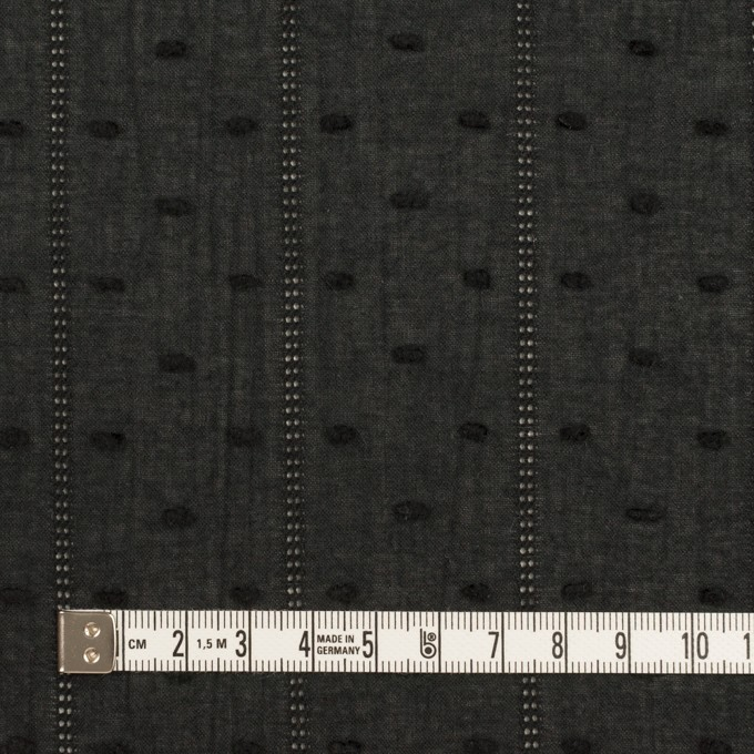 コットン×ストライプ&ドット(ブラック)×ボイルカット・ジャガード イメージ4