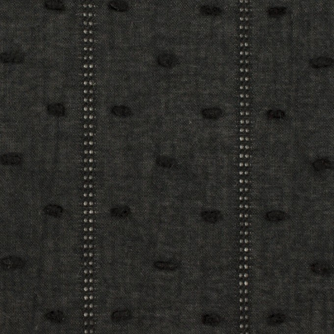 コットン×ストライプ&ドット(ブラック)×ボイルカット・ジャガード イメージ1