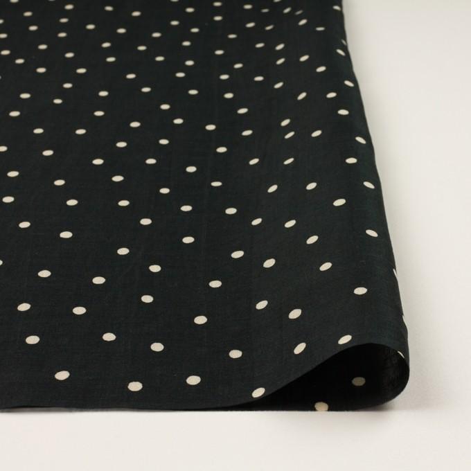 ラミー&テンセル×水玉(ブラック&エクリュ)×ローン イメージ3