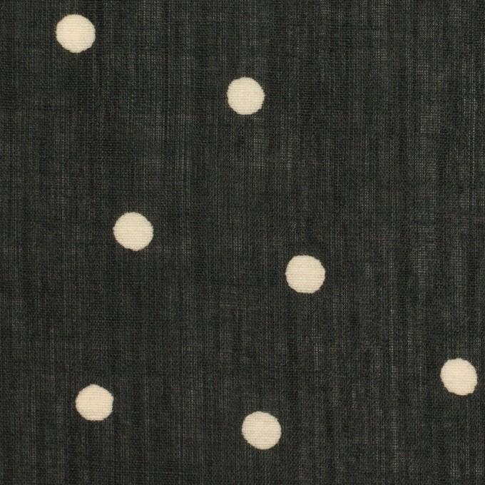 ラミー&テンセル×水玉(ブラック&エクリュ)×ローン イメージ1