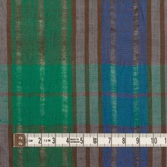 コットン&ラミー×チェック(グリーン&グレープ)×からみ織ボイル サムネイル4