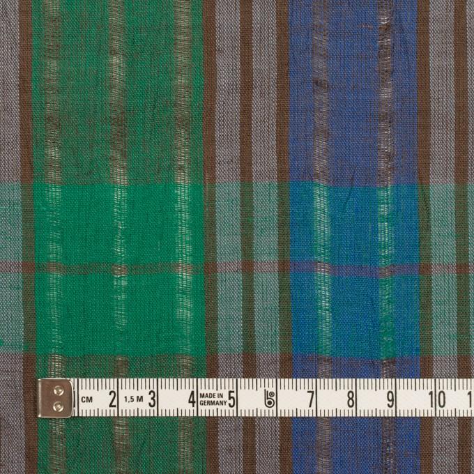 コットン&ラミー×チェック(グリーン&グレープ)×からみ織ボイル イメージ4