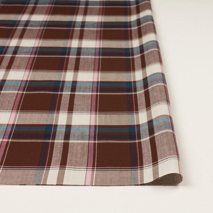 コットン&レーヨン×チェック(チョコレート、ピンク&ブルー)×ローン イメージ3