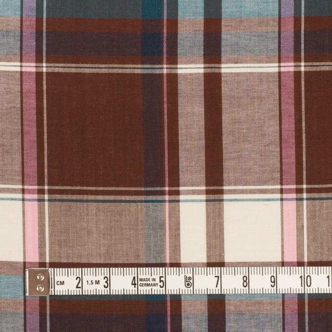 コットン&レーヨン×チェック(チョコレート、ピンク&ブルー)×ローン イメージ4