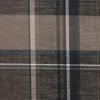 コットン&シルク×チェック(チャコールグレー)×オーガンジー サムネイル1
