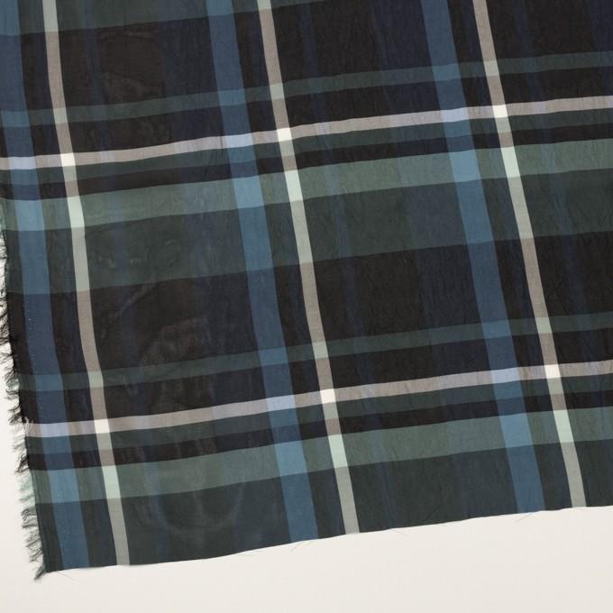 シルク&キュプラ×チェック(スレートグレー、ネイビー&ブラック)×ローンワッシャー イメージ2