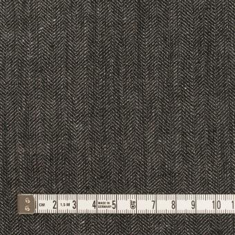 リネン&コットン×無地(チャコールグレー)×ヘリンボーン サムネイル4