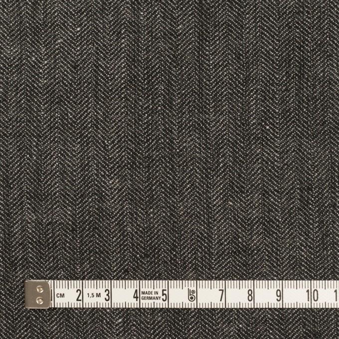 リネン&コットン×無地(チャコールグレー)×ヘリンボーン イメージ4