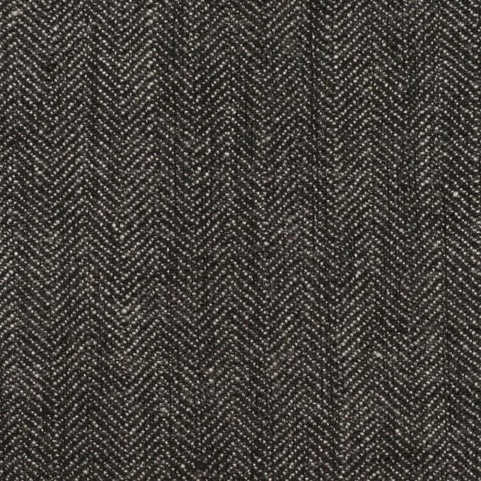 リネン&コットン×無地(チャコールグレー)×ヘリンボーン イメージ1