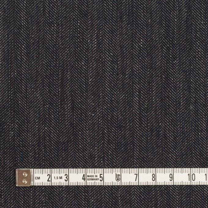 リネン&コットン×無地(チャコール)×ヘリンボーン イメージ4