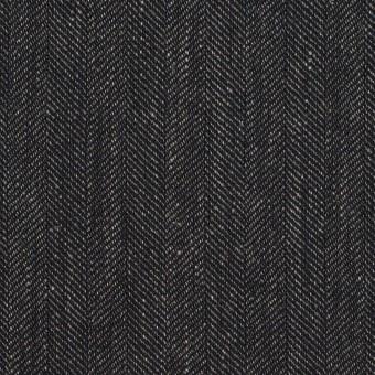 リネン&コットン×無地(チャコール)×ヘリンボーン サムネイル1