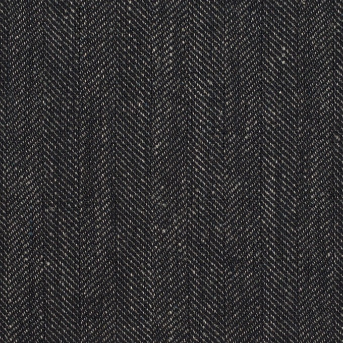 リネン&コットン×無地(チャコール)×ヘリンボーン イメージ1