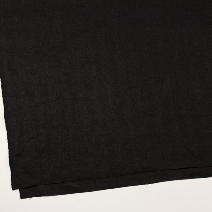 リネン×無地(ブラック)×ヘリンボーン イメージ2