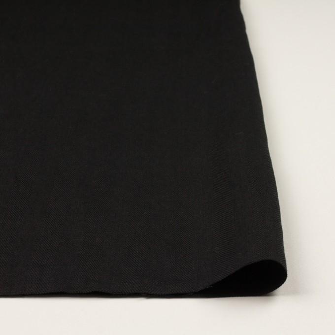リネン×無地(ブラック)×ヘリンボーン イメージ3