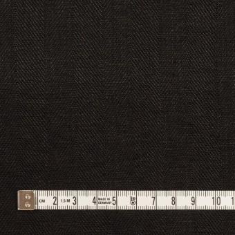 リネン×無地(ブラック)×ヘリンボーン サムネイル4