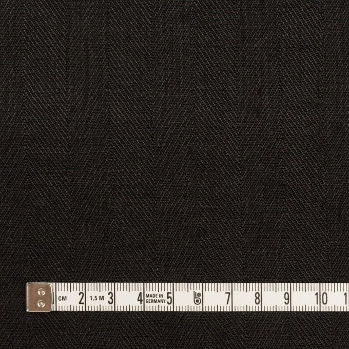リネン×無地(ブラック)×ヘリンボーン イメージ4