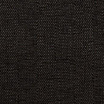 リネン×無地(ブラック)×ヘリンボーン サムネイル1