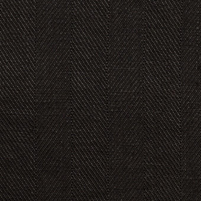 リネン×無地(ブラック)×ヘリンボーン イメージ1