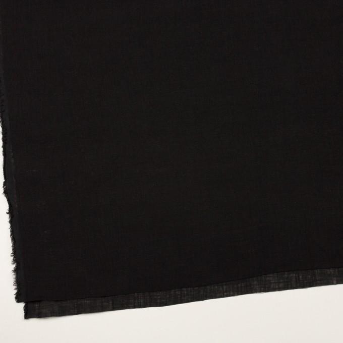 リネン×無地(ブラック)×薄キャンバス イメージ2