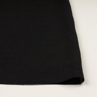 リネン×無地(ブラック)×薄キャンバス サムネイル3