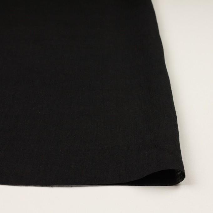 リネン×無地(ブラック)×薄キャンバス イメージ3