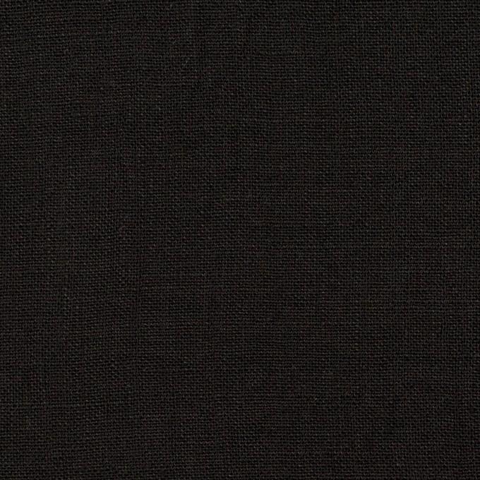 リネン×無地(ブラック)×薄キャンバス イメージ1
