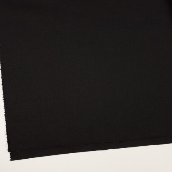 ポリエステル&リネン×無地(ブラック)×薄キャンバス・ストレッチ サムネイル2