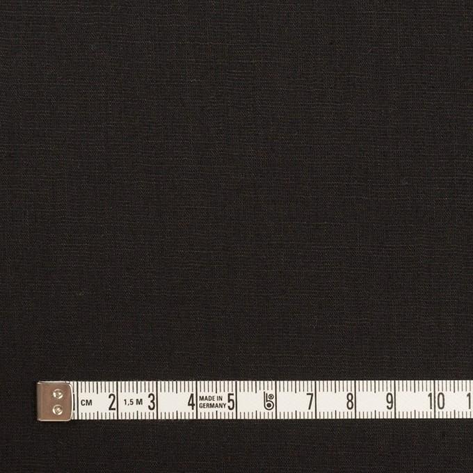 ポリエステル&リネン×無地(ブラック)×薄キャンバス・ストレッチ イメージ4