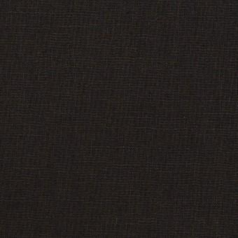 ポリエステル&リネン×無地(ブラック)×薄キャンバス・ストレッチ サムネイル1