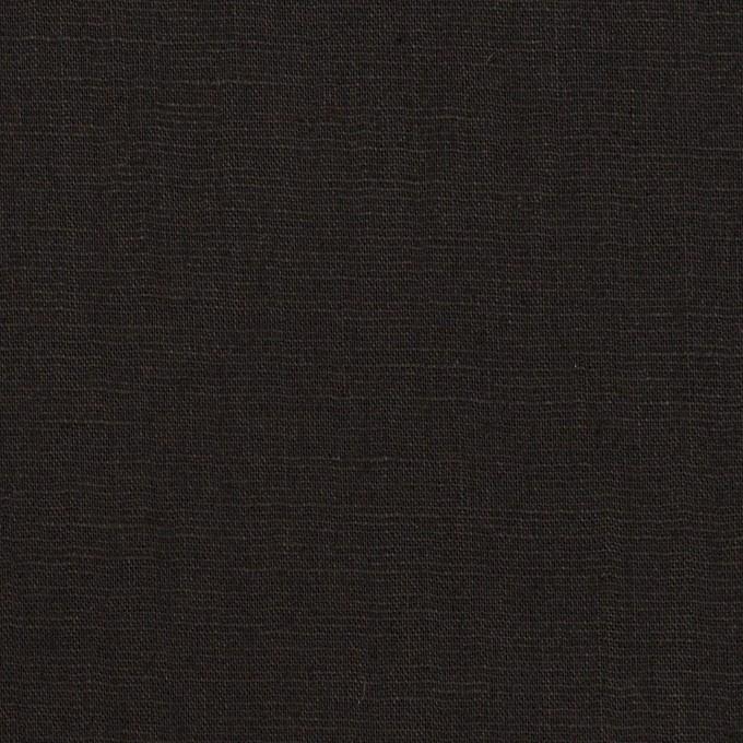 ポリエステル&リネン×無地(ブラック)×薄キャンバス・ストレッチ イメージ1
