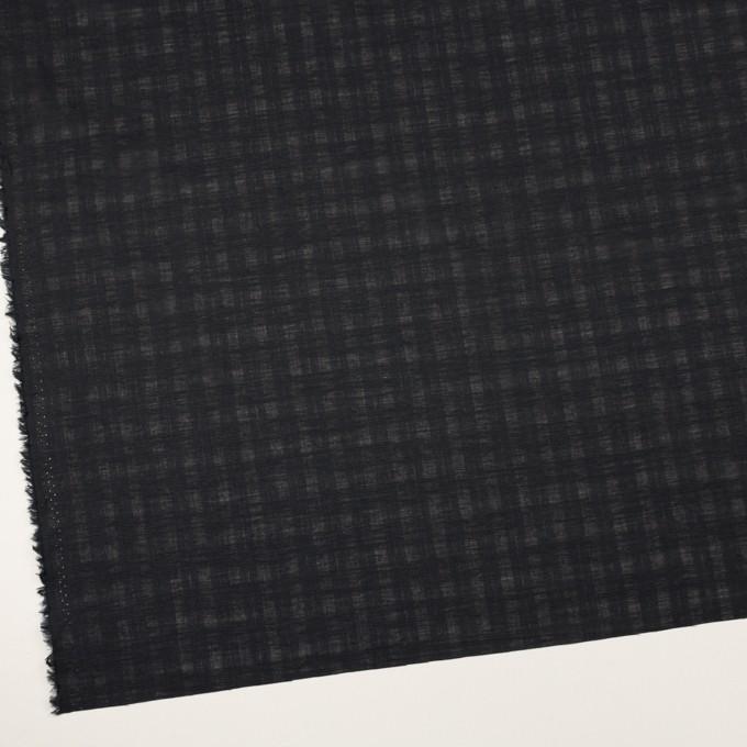 コットン×チェック(チャコールブラック)×ボイルジャガード イメージ2