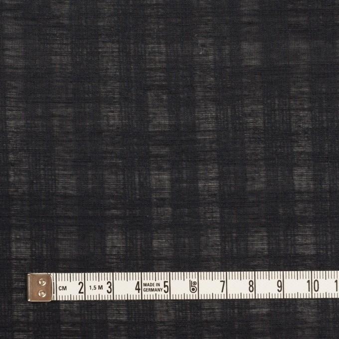 コットン×チェック(チャコールブラック)×ボイルジャガード イメージ4