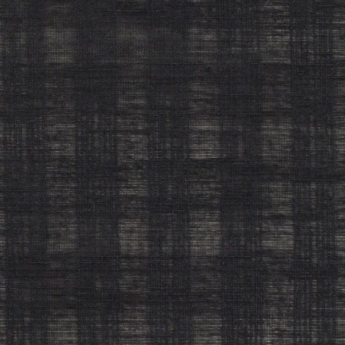 コットン×チェック(チャコールブラック)×ボイルジャガード イメージ1