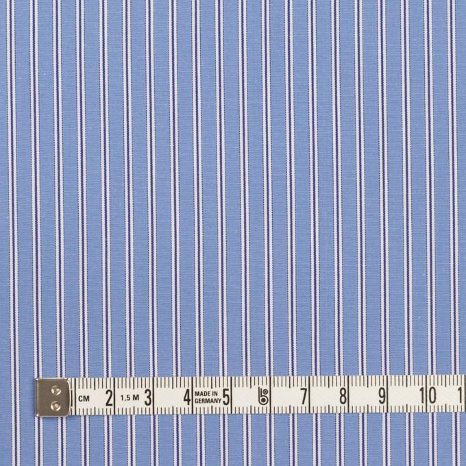 コットン×ストライプ(ヒヤシンスブルー)×ブロード イメージ4