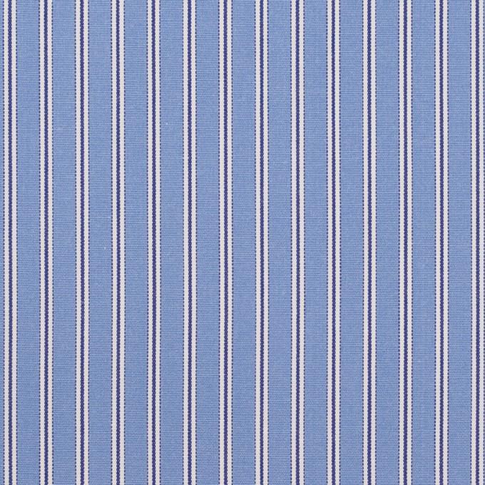 コットン×ストライプ(ヒヤシンスブルー)×ブロード イメージ1