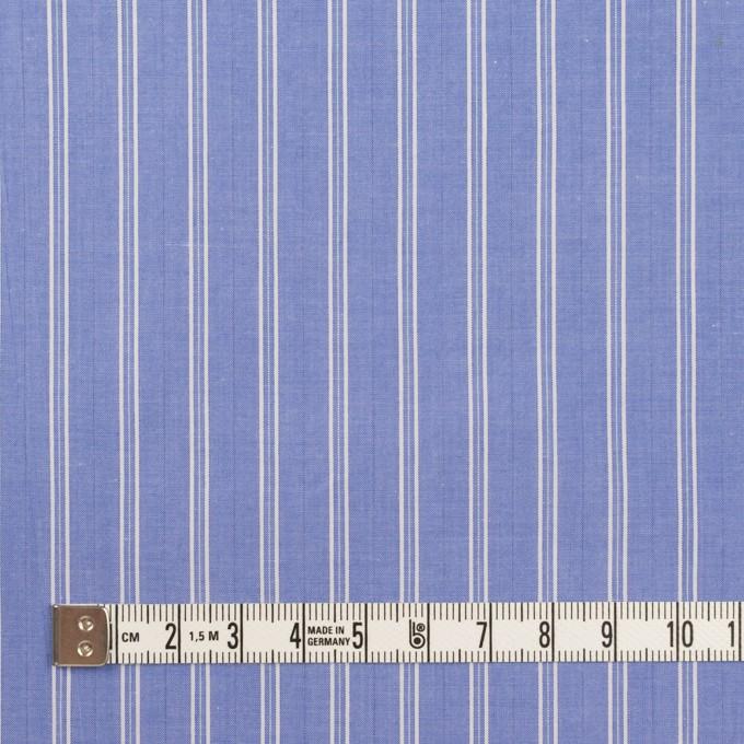コットン×ストライプ(ヒヤシンスブルー)×タイプライター(高密ローン)・ワッシャー イメージ4