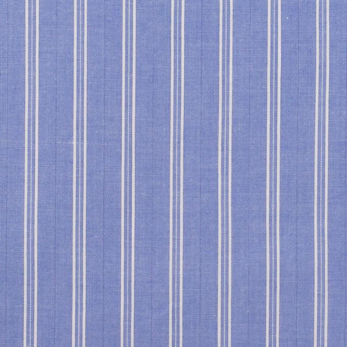 コットン×ストライプ(ヒヤシンスブルー)×タイプライター(高密ローン)・ワッシャー イメージ1