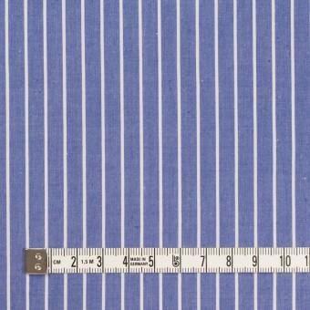 コットン×ストライプ(ヒヤシンスブルー)×タイプライター(高密ローン) サムネイル4
