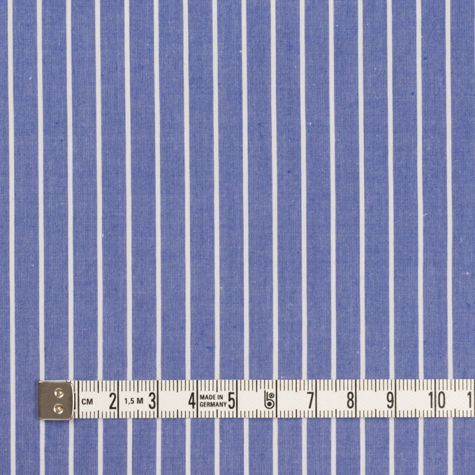コットン×ストライプ(ヒヤシンスブルー)×タイプライター(高密ローン) イメージ4