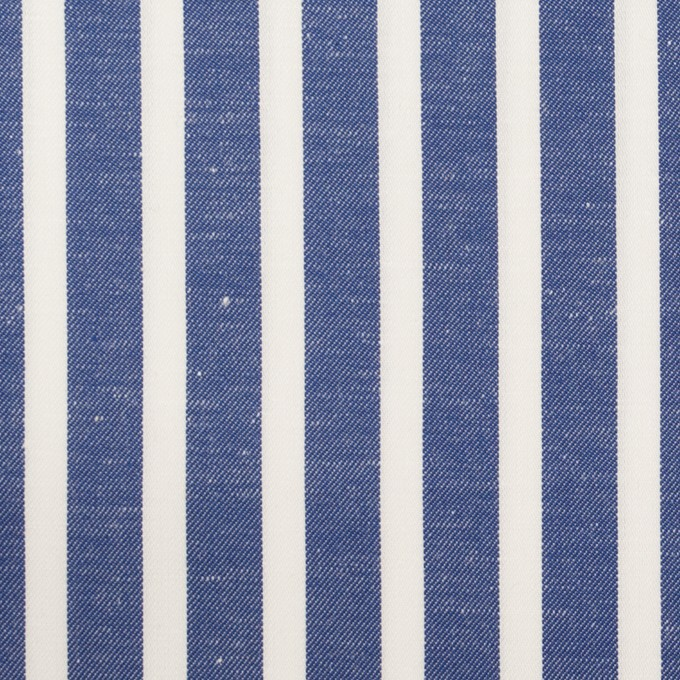 コットン×ストライプ(アッシュブルー)×サージ&サテン イメージ1