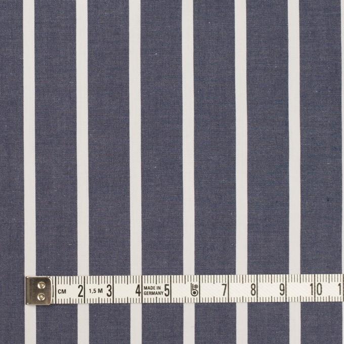 コットン×ストライプ(アッシュネイビー)×タイプライター(高密ローン) イメージ4